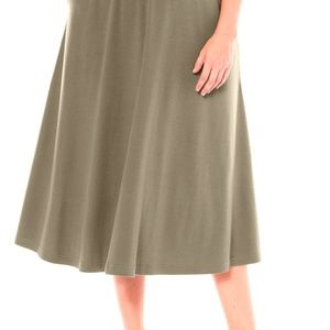 Plus Size Long Flare A-Line Skirt